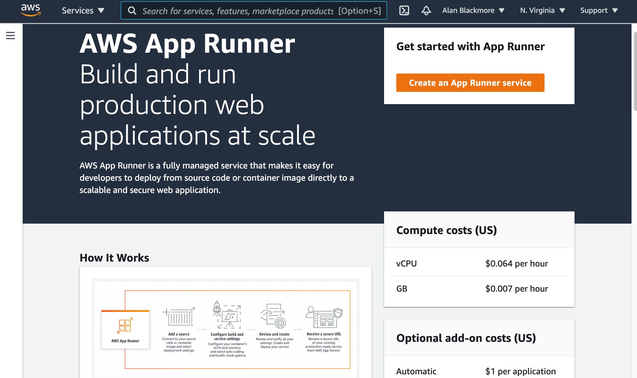 App_Runner_Home