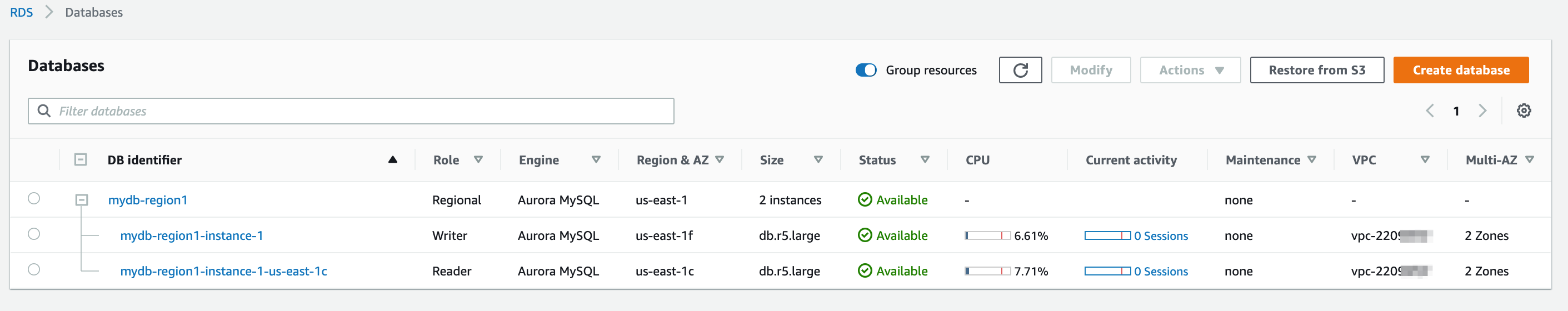 Aurora_RDS_Databases