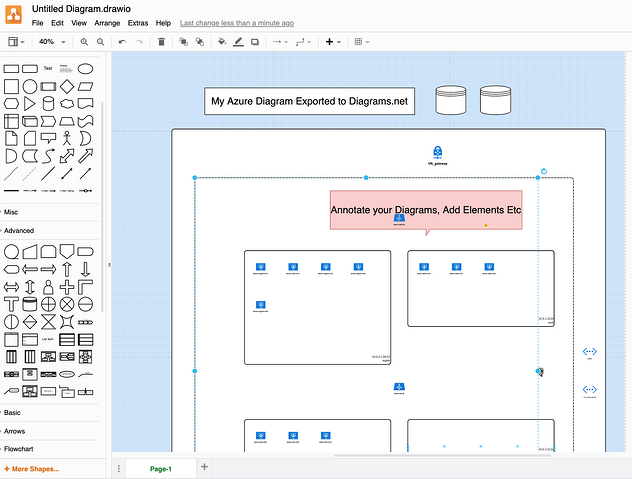 Edit Azure Diagrams With Visio or Drawio