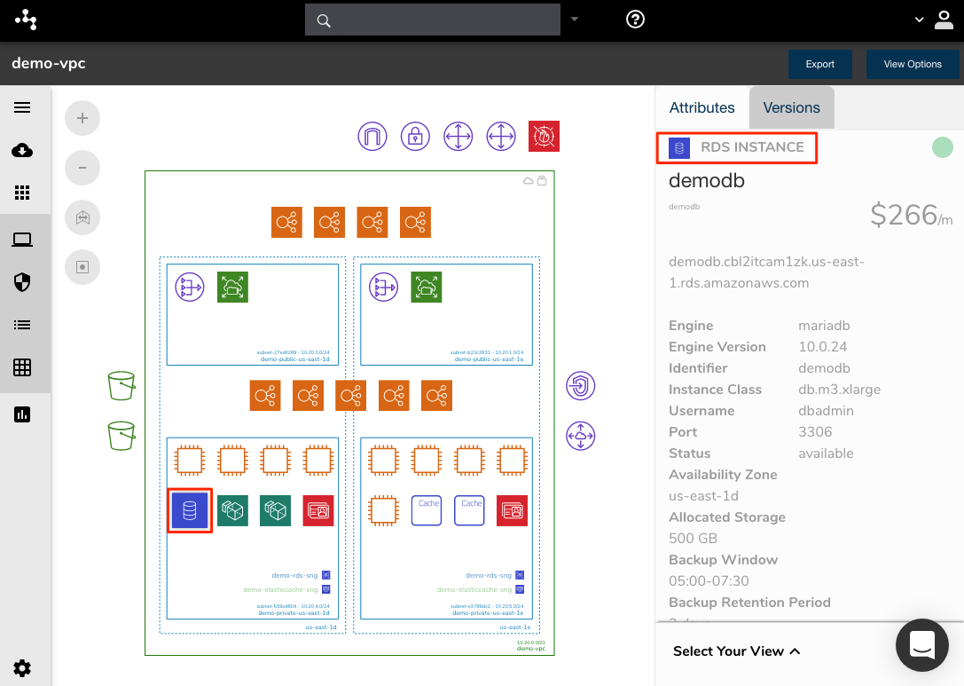 Cloudcraft Alternative AWS Diagram Resource Attributes