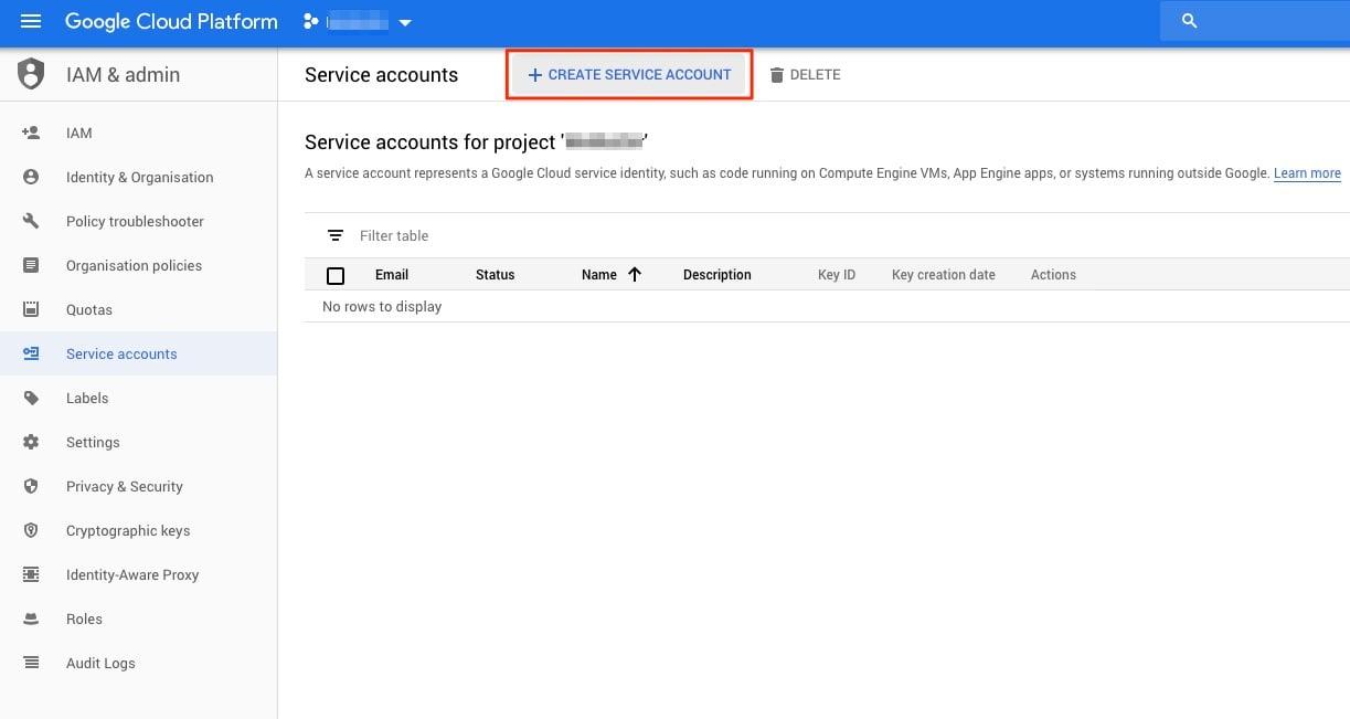 GCP Create Service Account