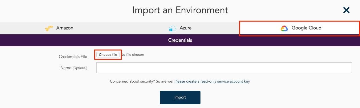 Hava Import Google Cloud Environment