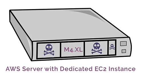 Server with dedicated ec2 instance